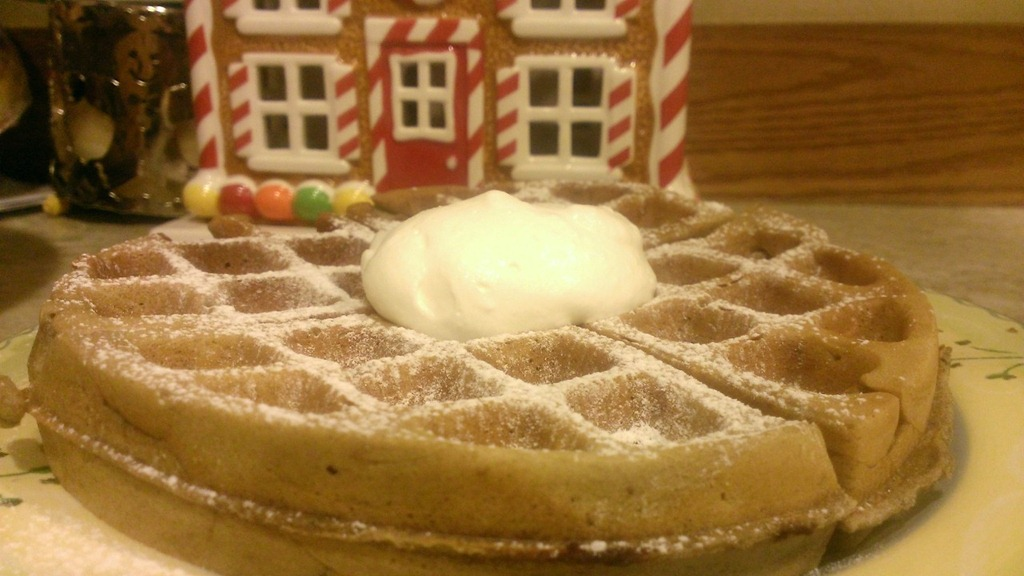 Chocolate chip peppermint waffle recipe